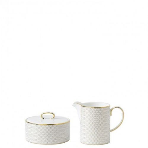 Arris Bone China Sugar Box & Jug Set